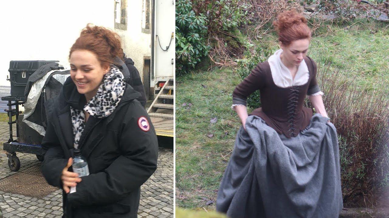 Outlander Season 4 Sophie Skelton (Brianna) in a new