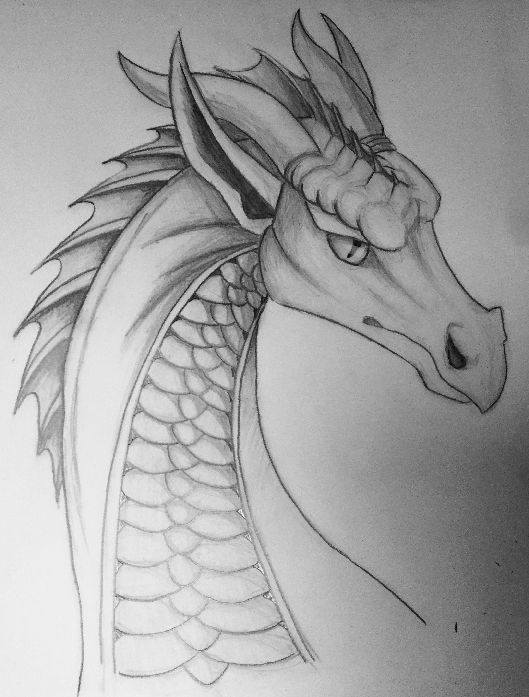 Легкие картинки драконов для срисовки