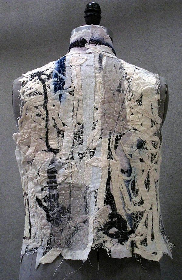 CW Vest Solvy with Wool Cuttings 2 | Holly Badgley Design