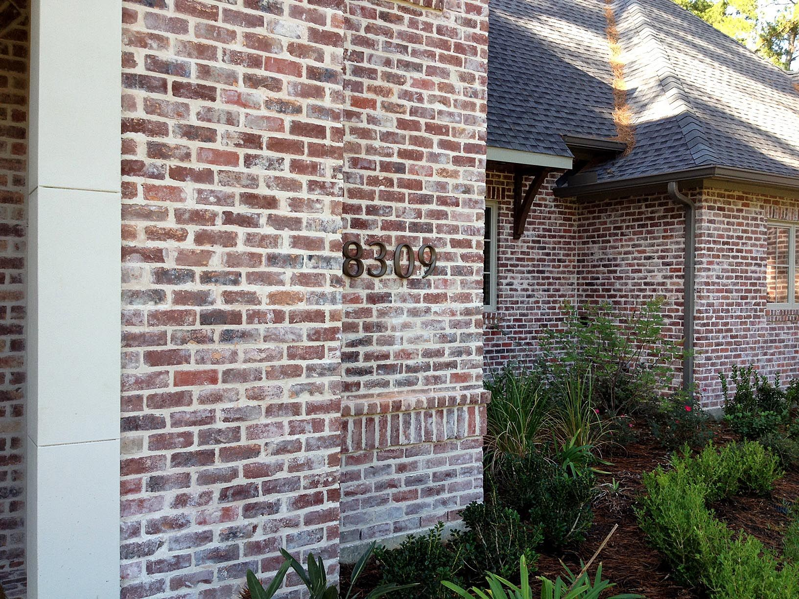 San Luis No Orange Q White Mortar Flush Cut Technique View A  Everett  HouseBrick ...