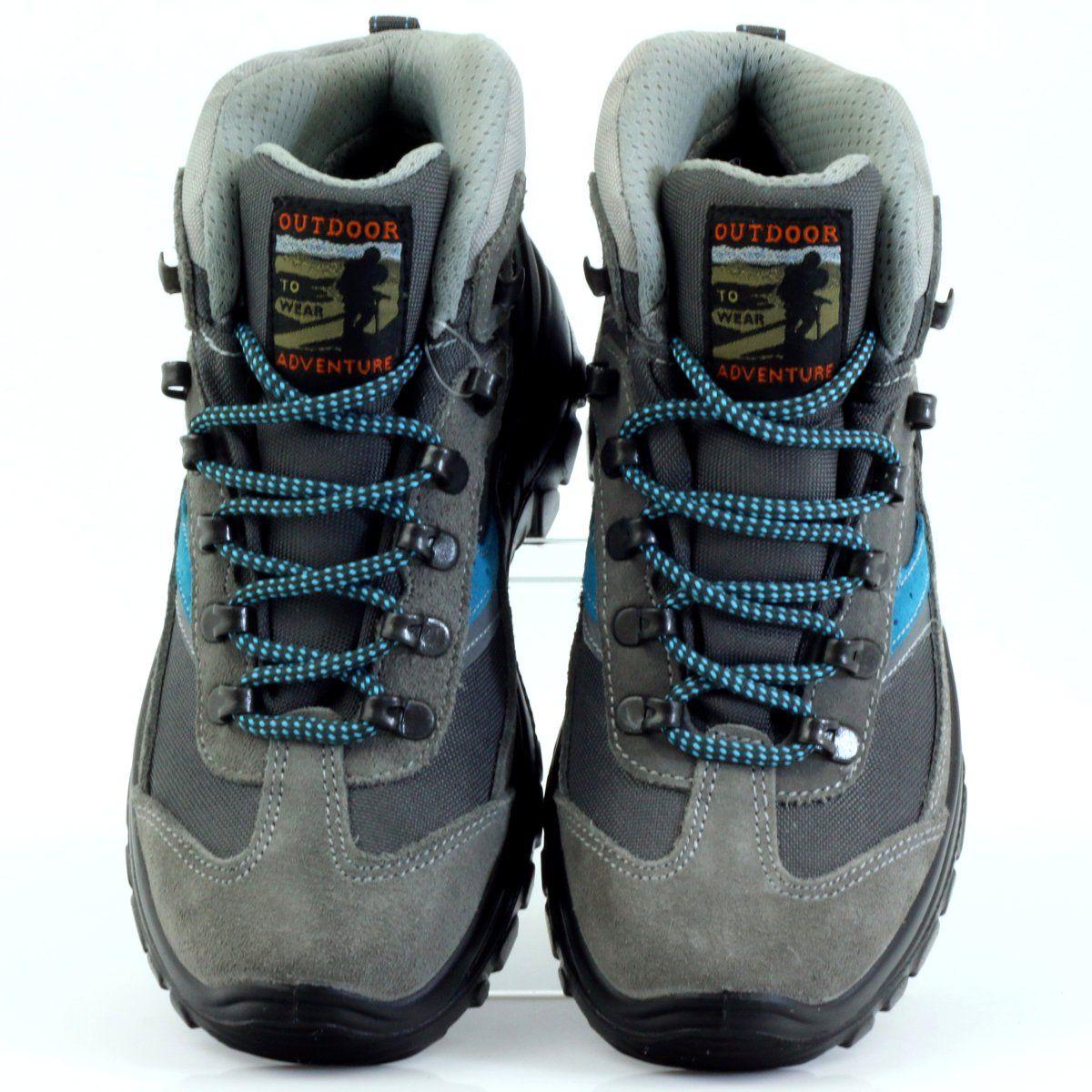Buty Trekkingowe Grisport Czarne Niebieskie Szare Trekking Shoes Black Shoes Shoes