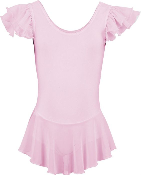 Short sleeved ballet leotard Betty with chiffon skirt and rhinestones B0087BPG58