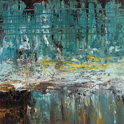 "Printfinders 'Deep Waters II"" by Jack Roth Painting Print on Canvas Size: 30"" H x 30"" W x 1.5"" D"