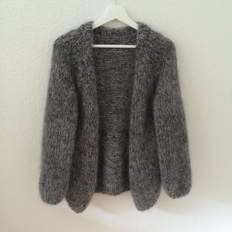 Photo of Anleitung RVU Oversize Strickjacke aus Mohair/Seide