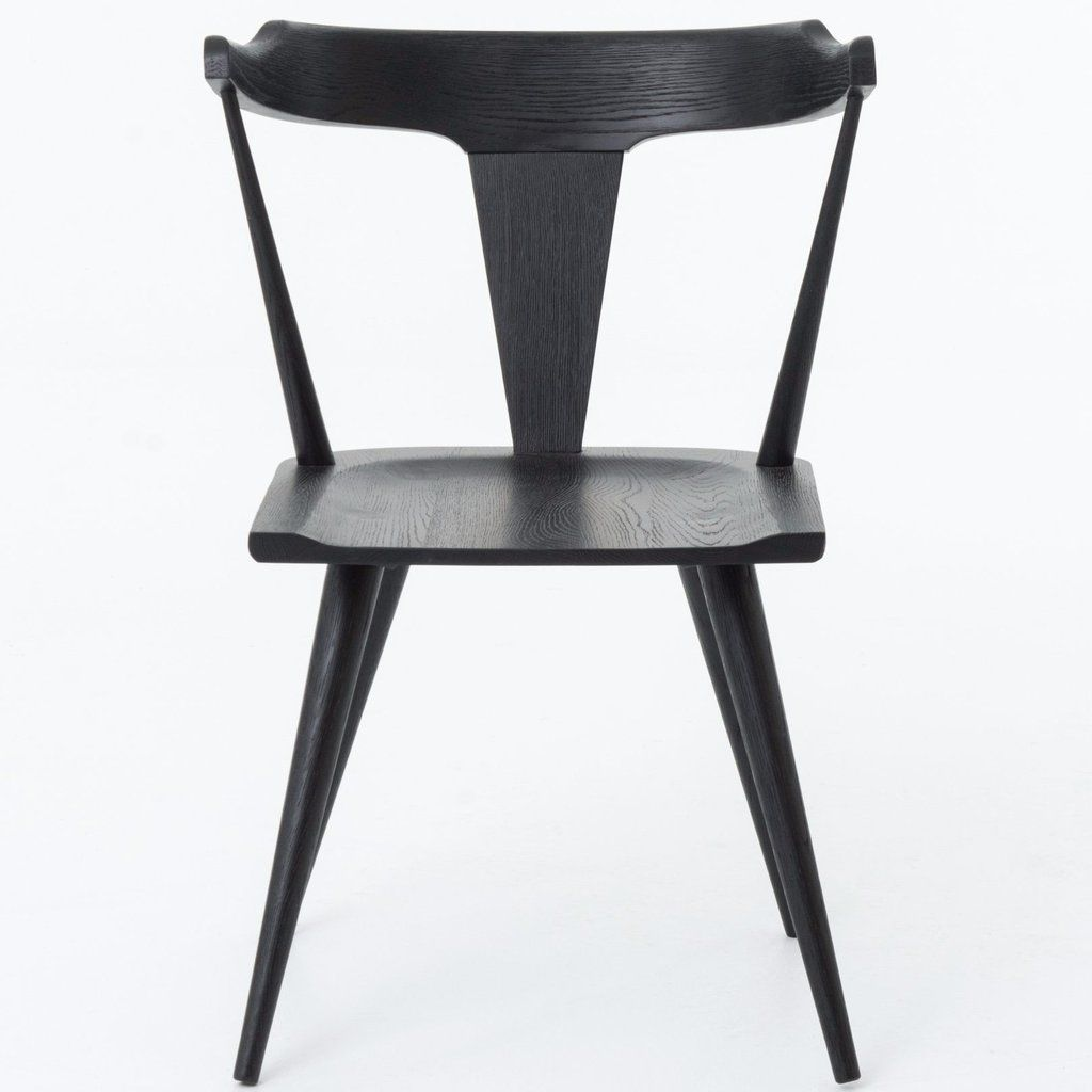 Neema Dining Chair Black Solid Wood Dining Chairs Black Dining