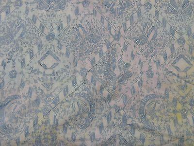 Timeless Tonga Pale Blue Gray Diamond Batik BT yard