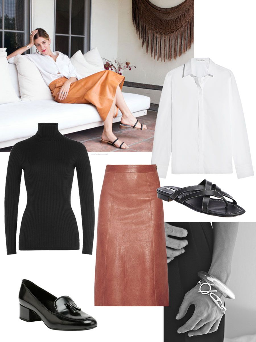 Fall Winter The Best Leather Skirt For Camel