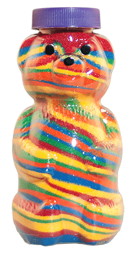 Honey Squeeze bear bottles for Malt-O-Meal® Tootie Fruities cereal crafts #MercadoSavings
