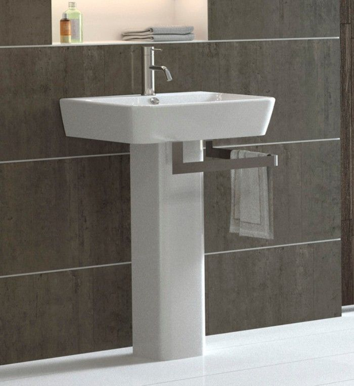 modern pedestal sinks for small bathrooms - Google Search | Main ...