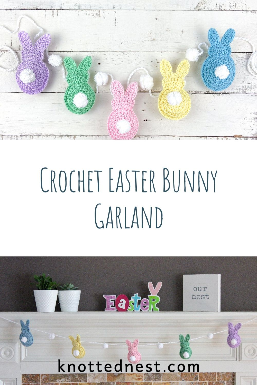Free crochet pattern easter bunny garland the knotted