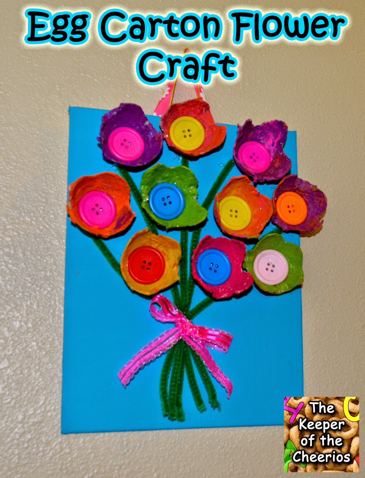 Egg Carton Flower Craft Fine Motor Pinterest Egg Carton Crafts