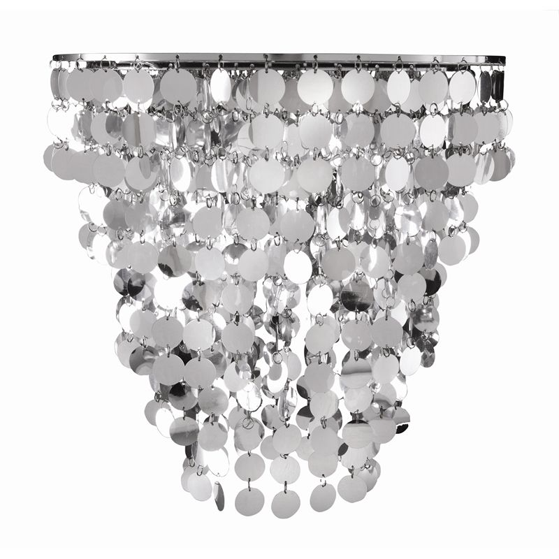 Brilliant 35 5cm Gleam Silver Disk Batten Fix Light Diy Light Shade Diy Shades Light Shades