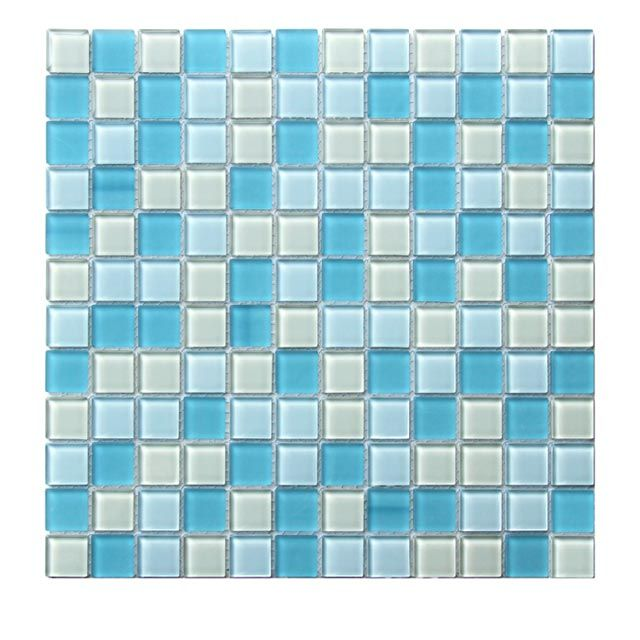 Mosaique Tobuko Bleu Beige 30 X 30 Cm Castorama Carreaux Mosaique Mosaique Cuisine Castorama