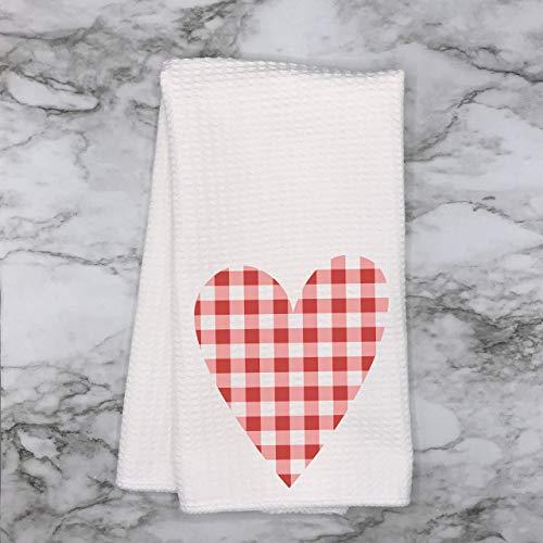 Amazon Com Valentine Buffalo Plaid Check Heart Waffle Weave