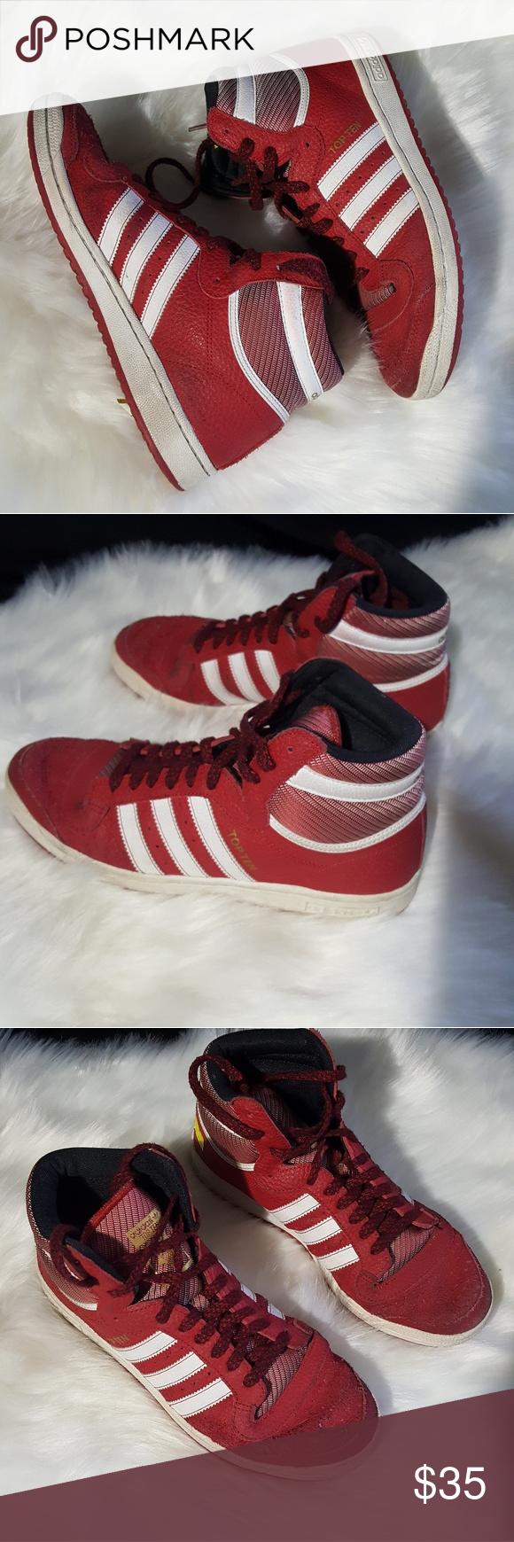 adidas top ten di pelle rossa adidas originali al massimo, top ten e rosso