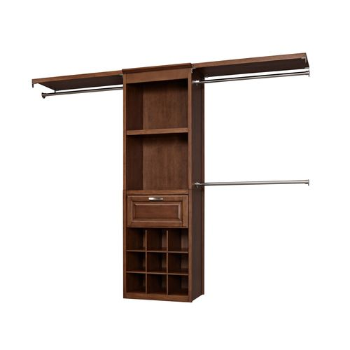 Lowes Closet Organizers Allen Roth Sable Hanging Wood Closet Kit