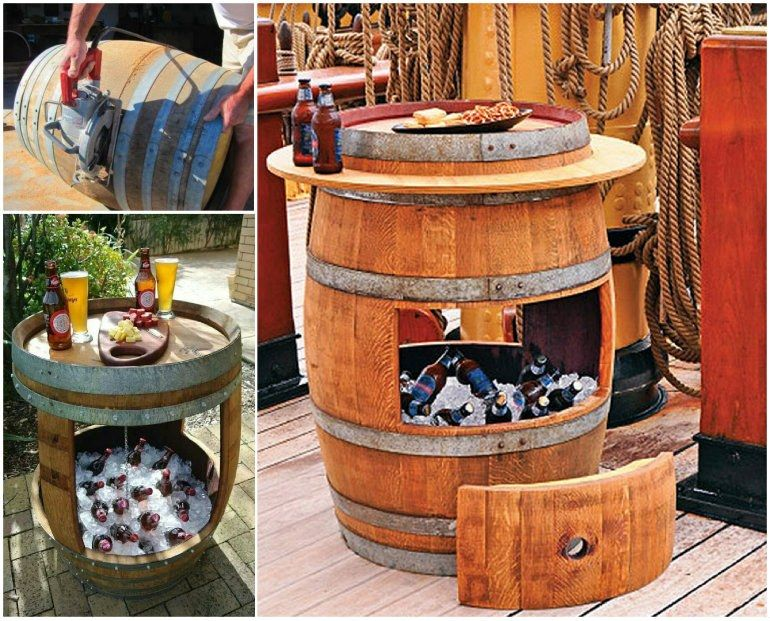 Wonderful DIY Whiskey Barrel Coffee Table Barrels Wines and