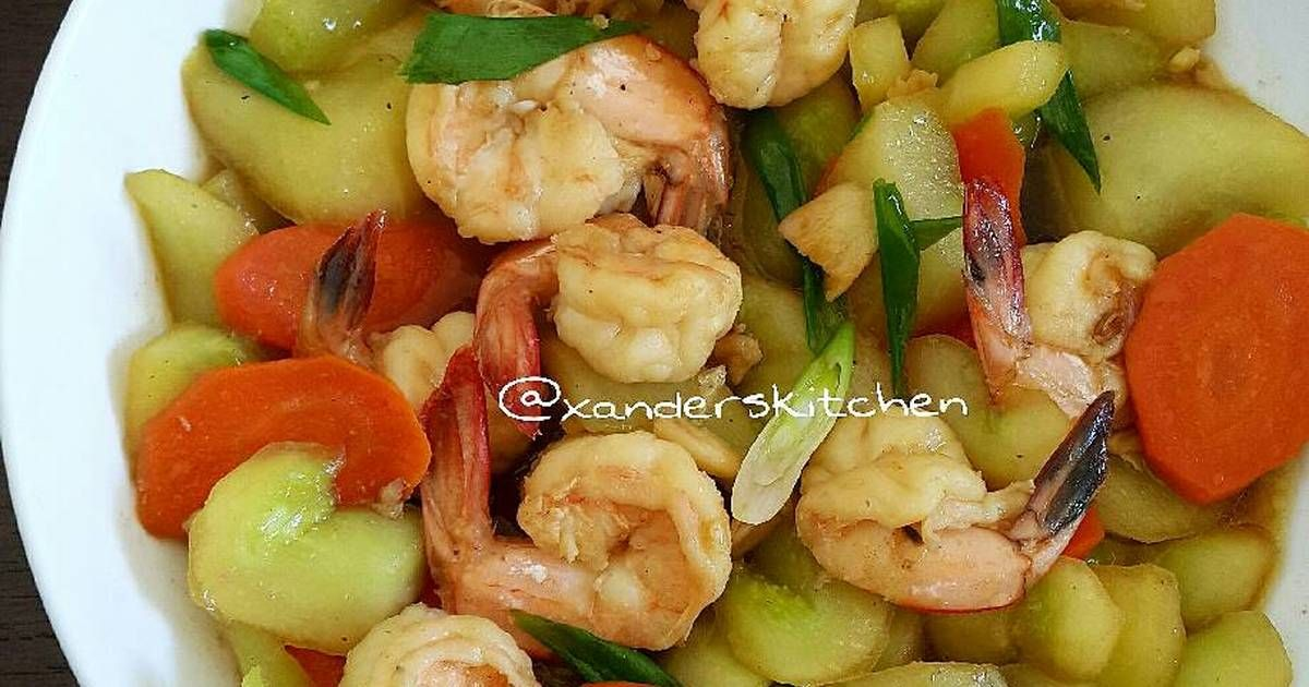 Resep Tumis Timun Udang Oleh Xander S Kitchen Resep Tumis Timun Makanan