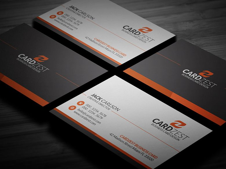 Simple Professional Corporate Business Card Template Free Business Card Templates Corporate Business Card Create Business Cards