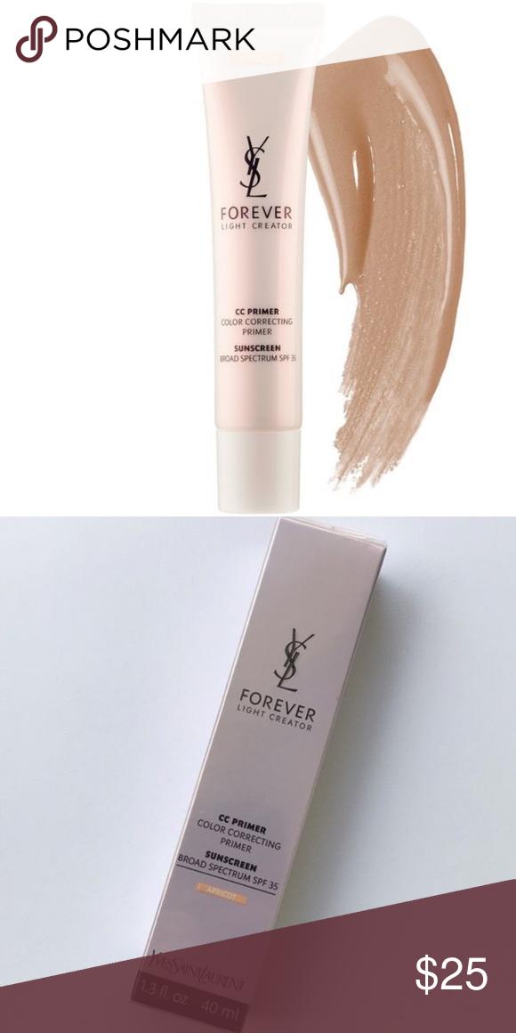 Ysl Forever Light Creator Cc Color Correcting Primer Spf 35 Apricot New In Sealed Box Yves Color Correcting Primer Yves Saint Laurent Makeup Correcting Primer