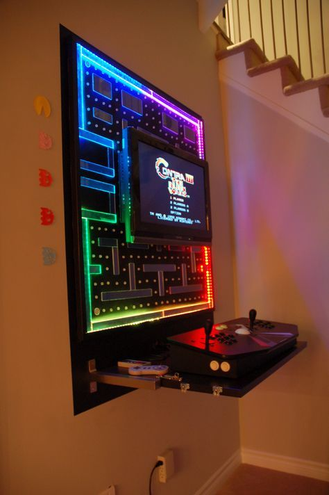 If you have a game room or recreation area in your home, it's important to have good lighting. Pin by Angus B. on Cool stuff   Arcade room, Video game ...