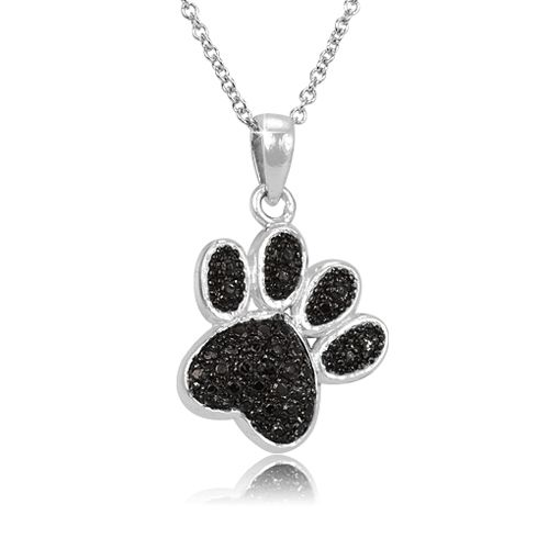 10 for black diamond accented animal pendant w 18 chain black diamond animal pendants on sale aloadofball Image collections