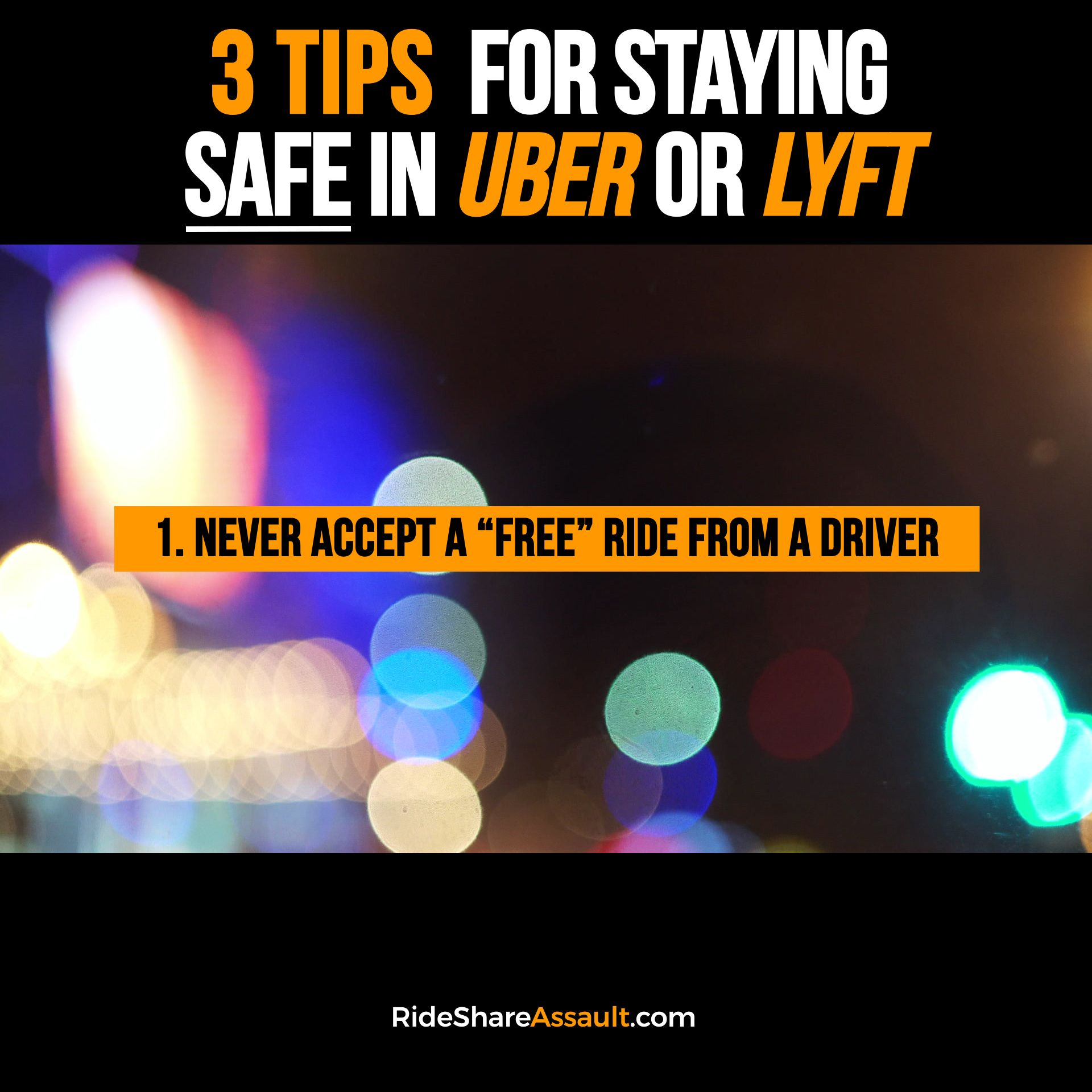 🚨 3 Tips for Staying SAFE 👉 in a #Uber or #Lyft 🚨 | LMBO