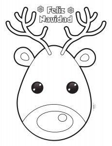 Reno De Navidad Para Colorear Y Para Imprimir Dibujos Navidenos Para Ninos Dibujos De Navidad Para Imprimir Dibujos De Renos