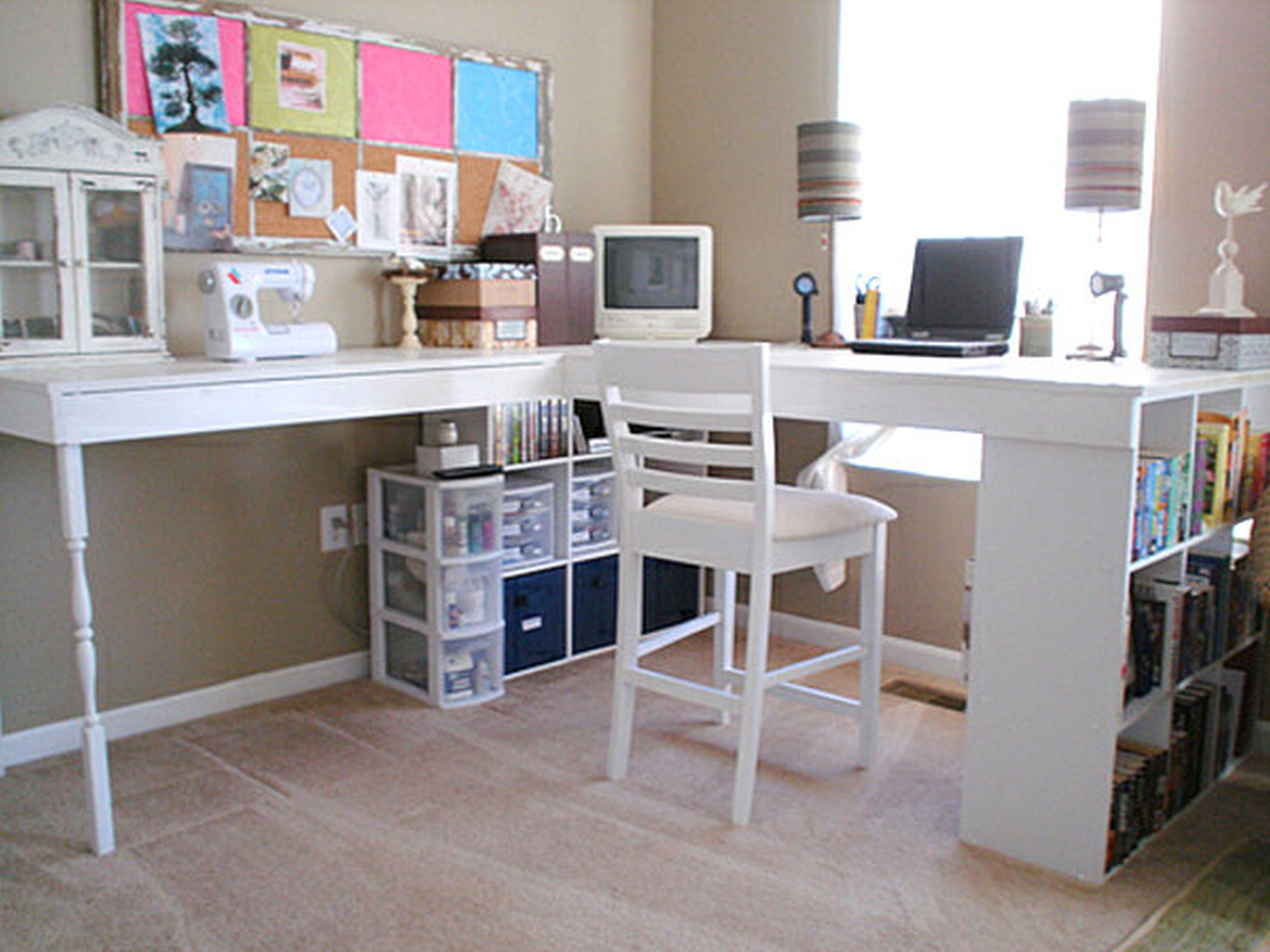 Shabby Chic Office Desk For Corner Decorations Ideas Small Home