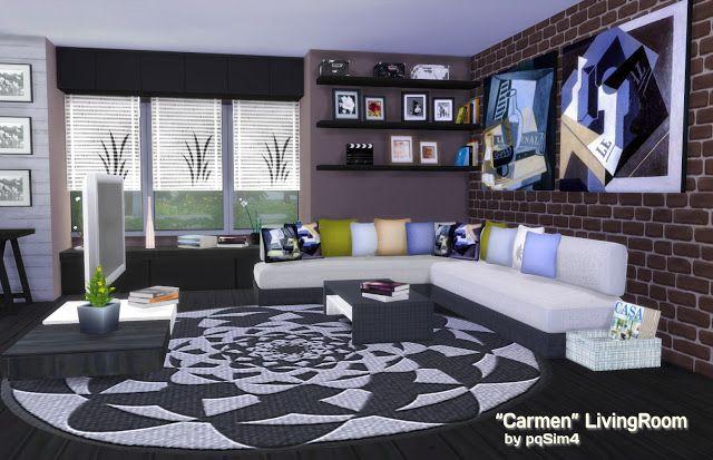 "Sims 4. ""Carmen"" Living Room. - PqSim4"