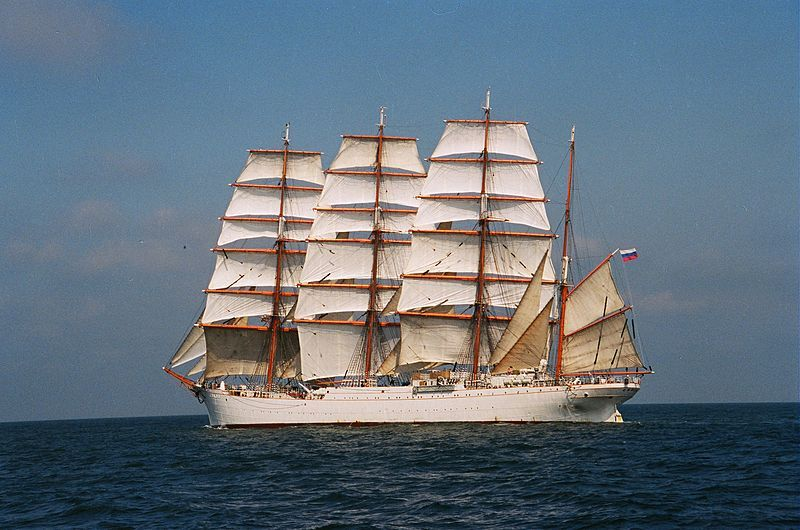 The Sedov Under Full Sail Voilier Barque Yacht