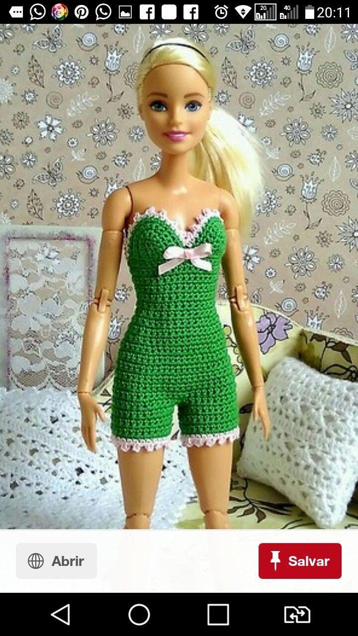 Asombroso Los Patrones De Crochet Libre Para Muñecas Barbie Motivo ...