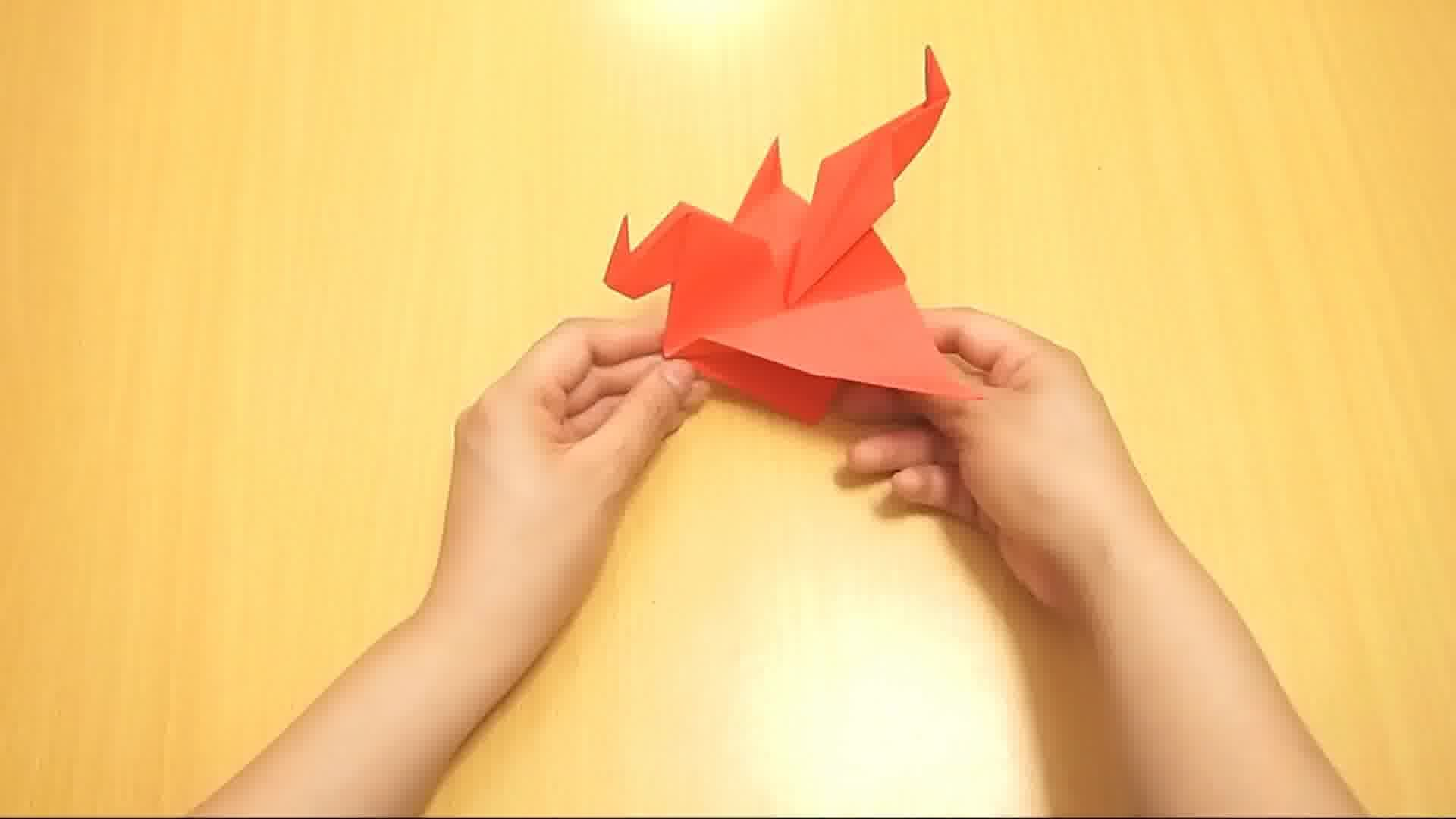 Origami - How to make an easy origami dragon - YouTube | 1080x1920