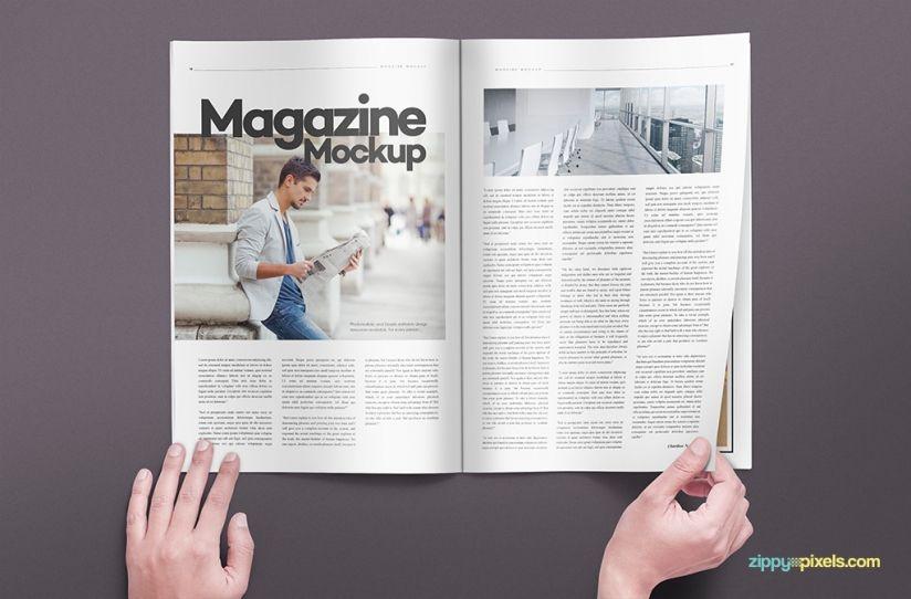 14 magazine spread mockups books and magazines mockups pinterest
