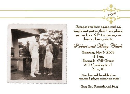 17 images about 50th wedding anniversary ideas – Wording for 50th Wedding Anniversary Invitations