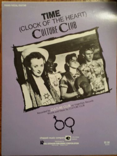 Details about CULTURE CLUB RARE, TIME (CLOCK OF THE HEART) SHEET