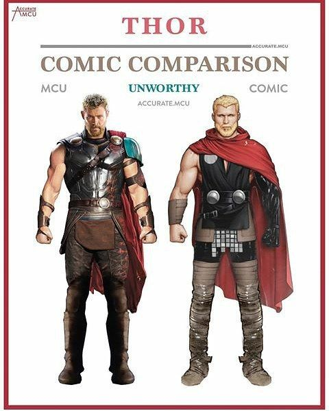 "4,134 Likes, 26 Comments - MARVEL AND DC (@marvel_dc_squad) on Instagram: ""- THOR UNWORTHY - COMIC COMPARISON - Credit For @accurate.mcu ••••• Everything Of Marvel And DC.…"""
