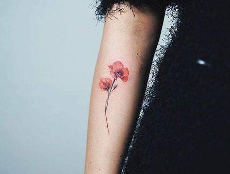 tatouage coquelicot – un champ de 52 modèles en photos | idées de