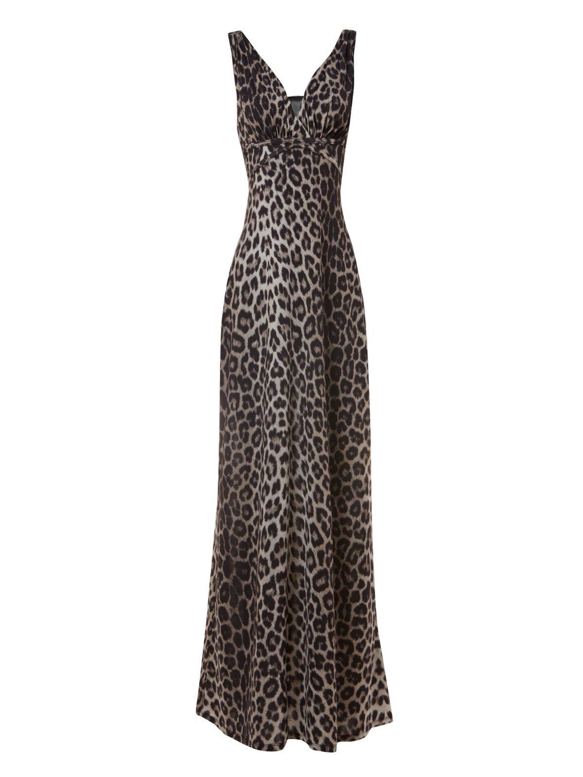 Leopard Print Maxi Dress 50 From Jane Norman Maxi Dress Leopard Print Maxi Dress Neutral Dresses