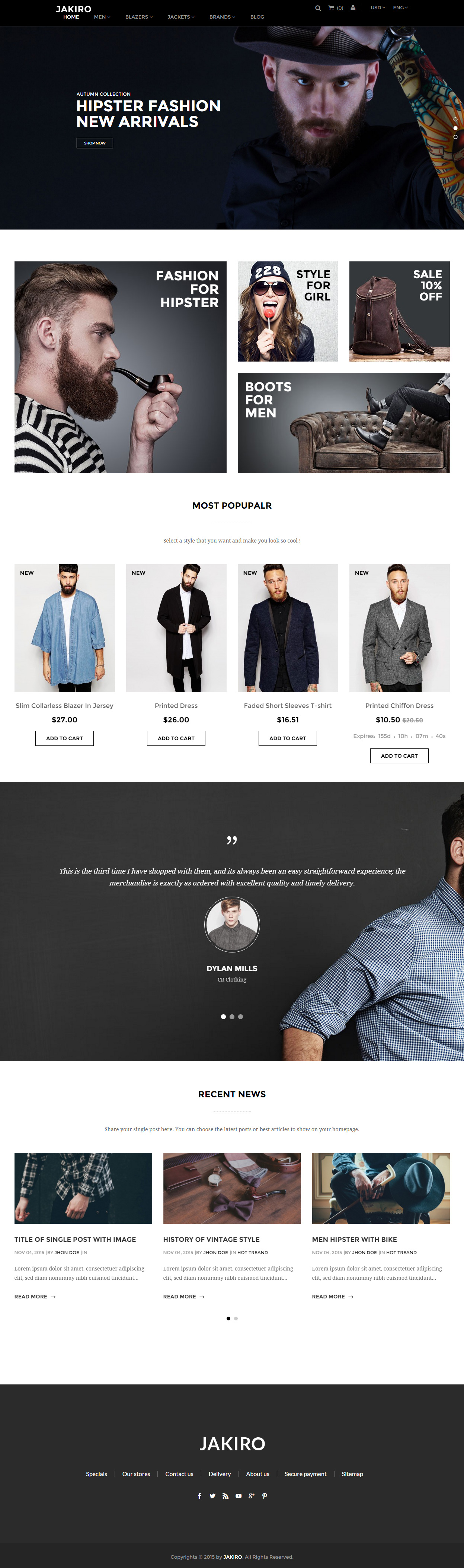 Jakiro is Premium full Responsive eCommerce Prestashop Theme ...