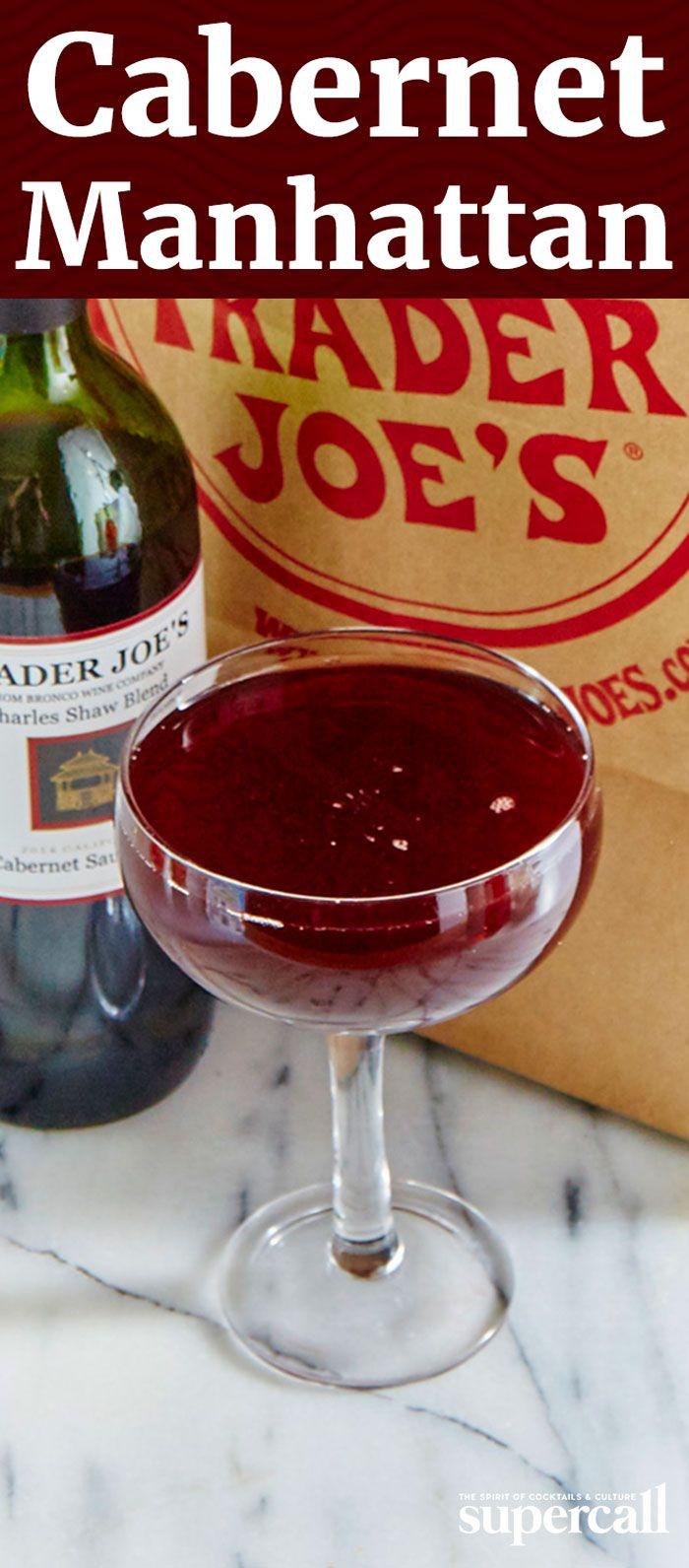 Cabernet Manhattan Recipe Easy Drink Recipes Bourbon Recipes Manhattan Recipe