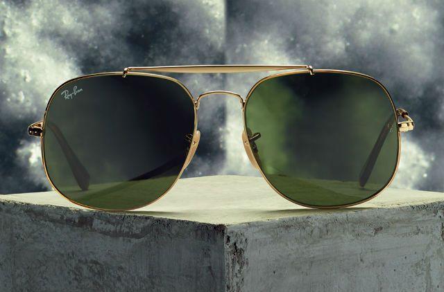 Ray-Ban General Green Oculos De Sol, Óculos De Sol De Treinador, Óculos 0a89c7a4be