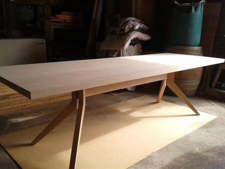 Oak Splayed Leg Dining Table