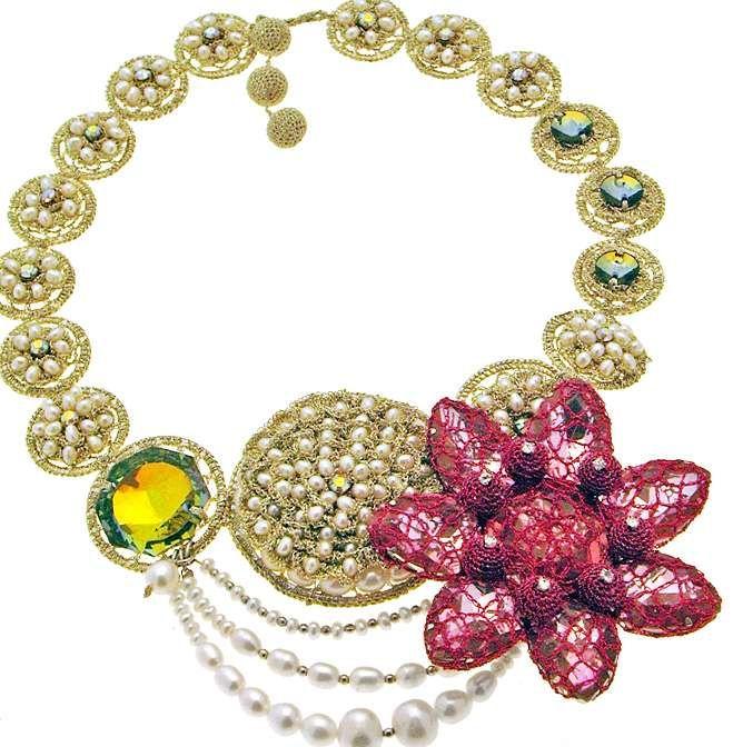 Zari ganchillo collar | ganchillo | Pinterest | Bisutería y Ganchillo