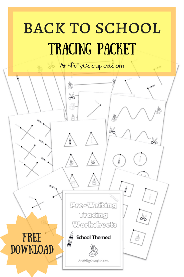 Back to School Tracing Packet