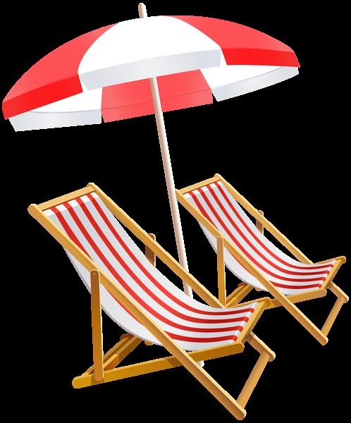 Beach Umbrella and Chairs PNG Clip Art Image Beach
