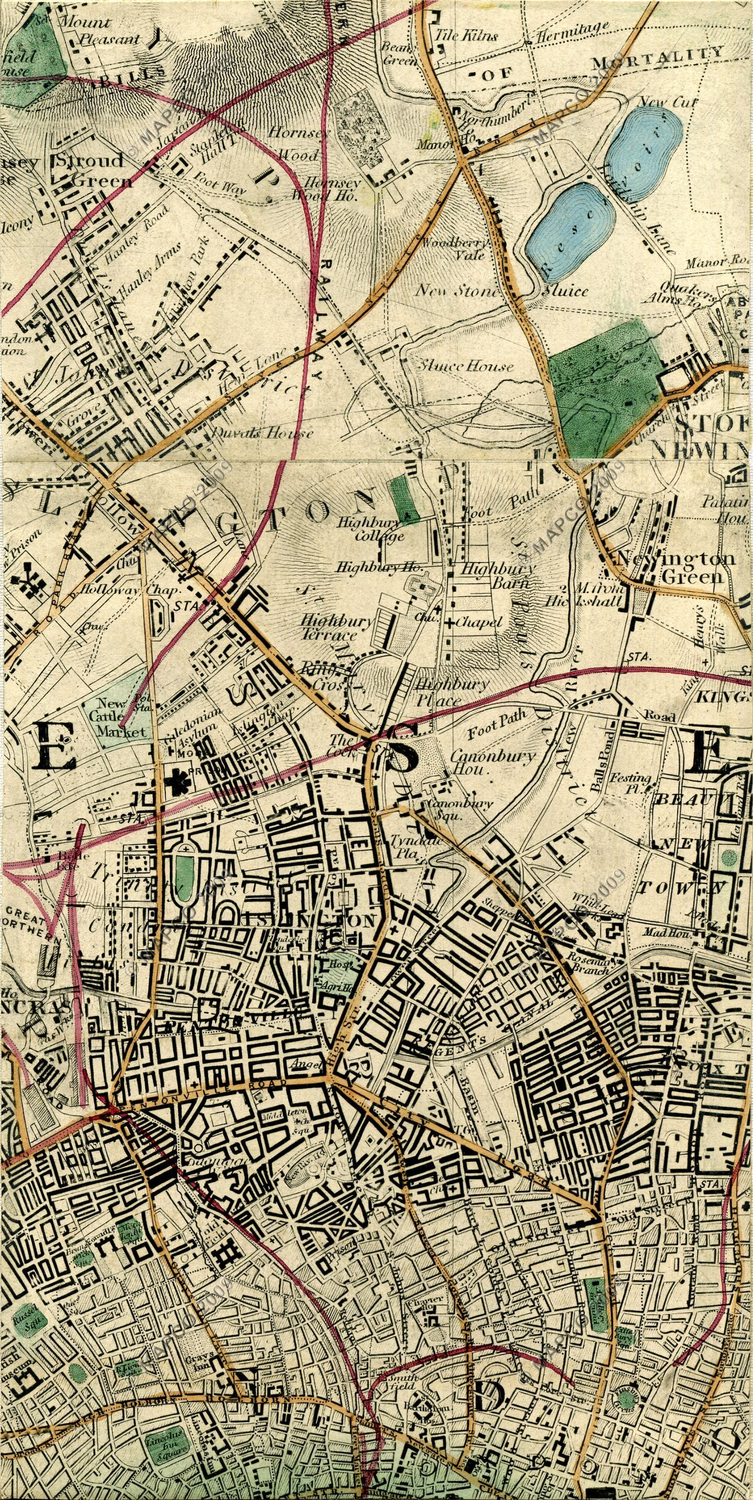 Topographic Map London.Wyld S New Topographical Map Of The Country In The Vicinity Of