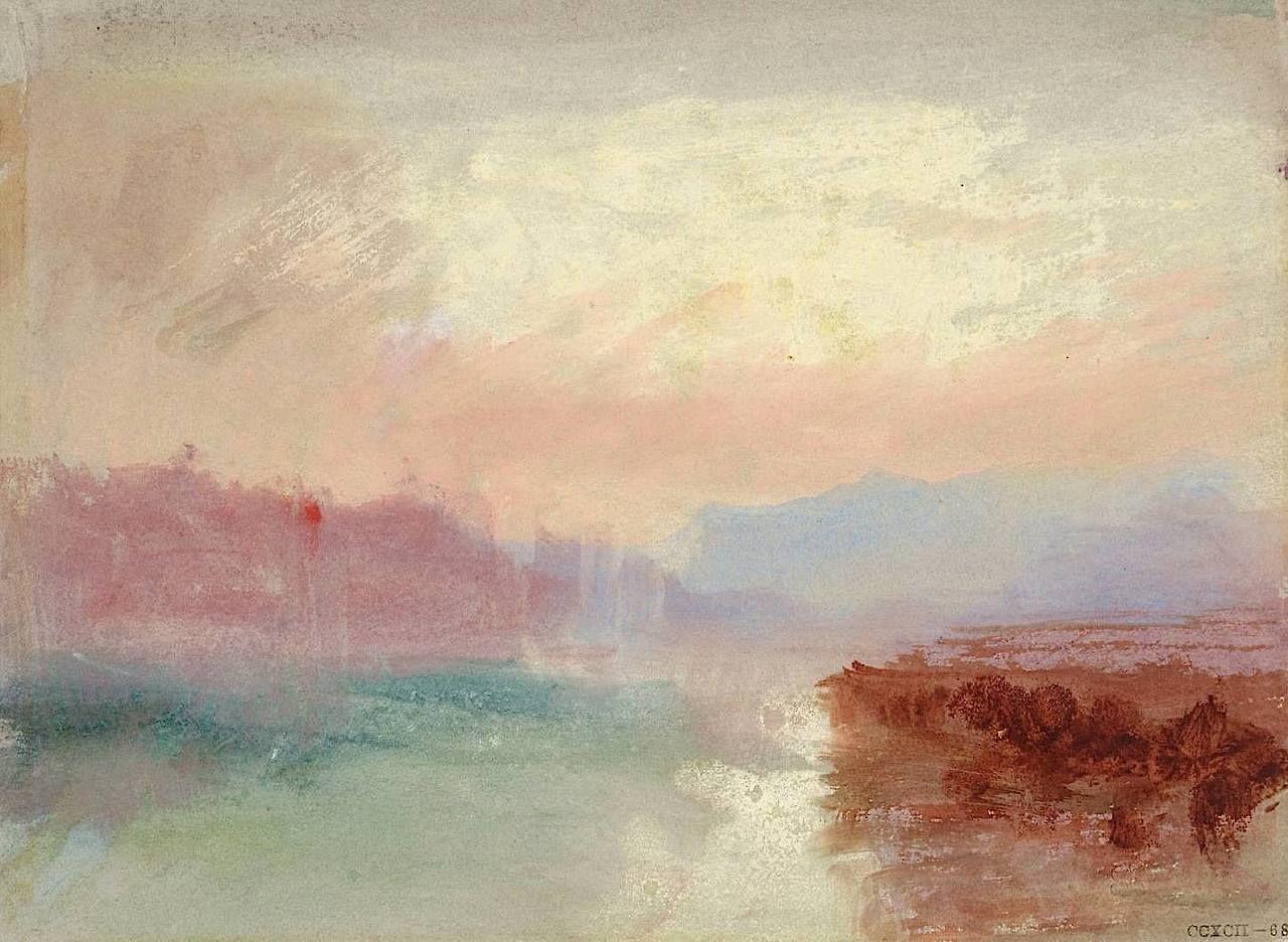 Turner River Scene C 1834 Turner Peinture Turner Peintre