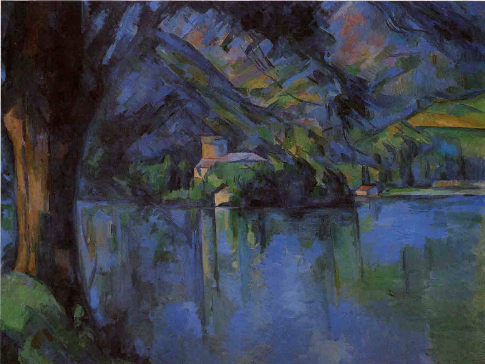 lake annecy paul cezanne art i like pinterest. Black Bedroom Furniture Sets. Home Design Ideas