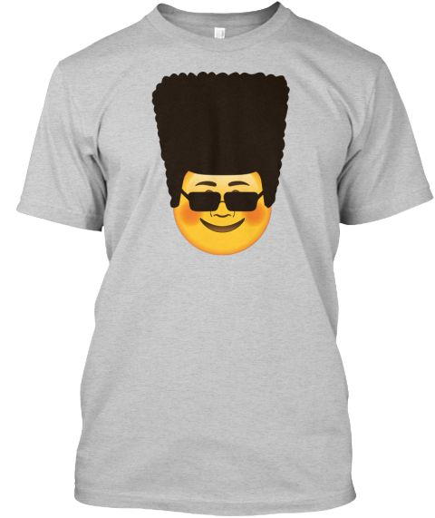 078c2107922b Smiling Face Emoji with Blushed Cheeks with Cool Hairstyle of 90-s and black  sunglasses ! Cool Gift for men and women who understand this style!